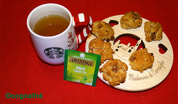 thè, twinings, thè verde, menta, infusi, cognathe, ricette, dolci, biscotti, vinsanto, uvetta