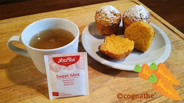 ricetta tortine alla carota mint yogi tea cognathe menta carota tisane the infusi