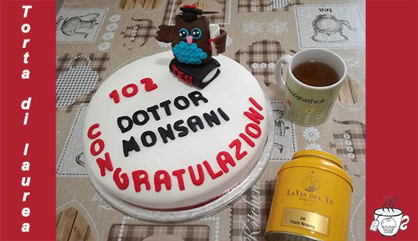 torta e tisana di laurea, torta di laurea,cognathe, ingredienti, pasta di zucchero, tisana relaxing la via del tè, firenze,
