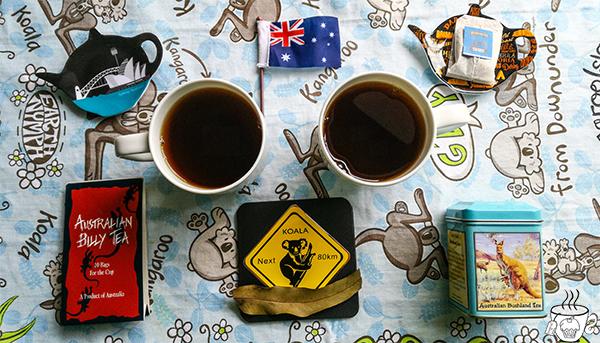 thè australiano in viaggio con cognaTHE' thè nero australiano thè nero all'eucalipto australianono