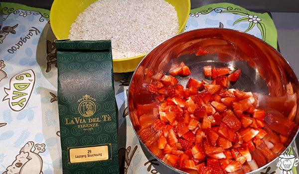 Cucinare con il thè risotto alle fragole con thè Lapsang Souchoung La Via del tè CognaTHE'