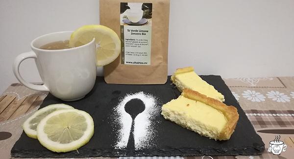 thè e torta al limone Thè verde zenzero e limone bio di Altair Tea Torta alla ricotta e limone cognaTHE'