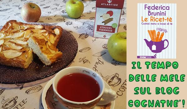 ricetta della torta di mele al tè bianco di Federica Brunini Torta di mele al tè bianco-CognaTHE'