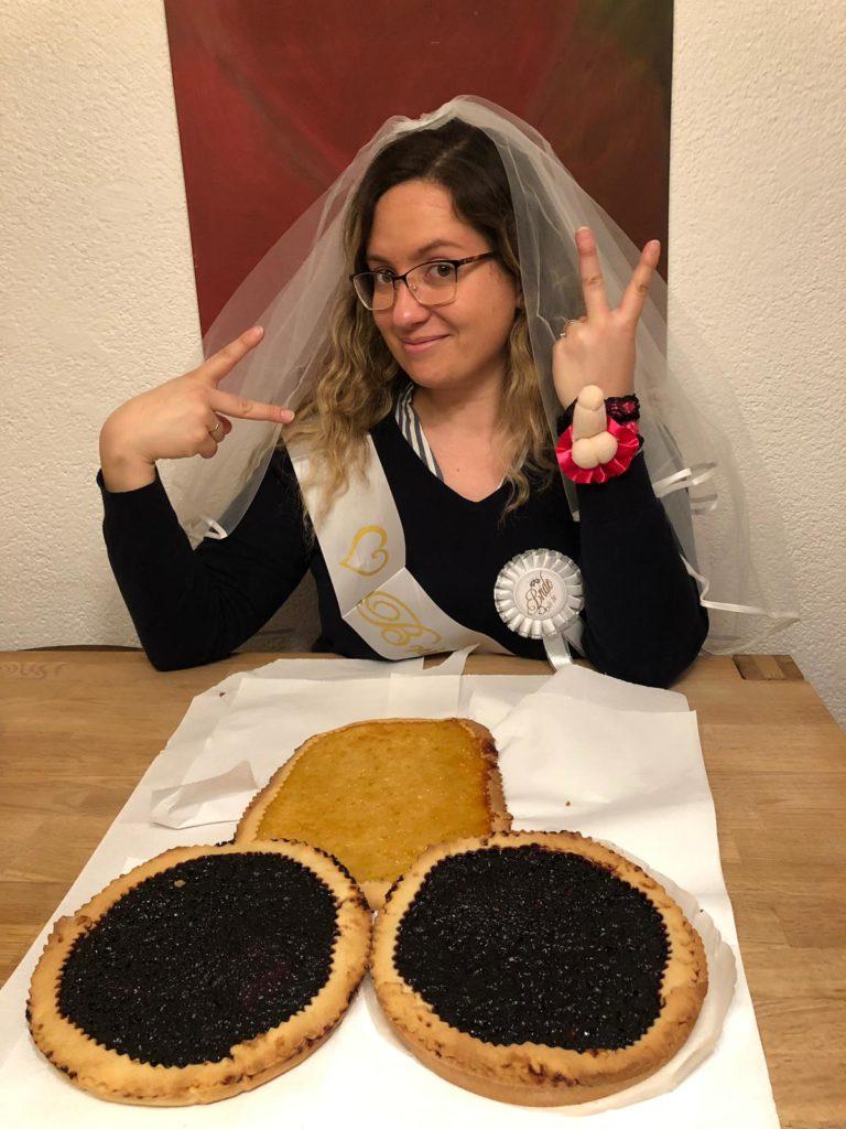 torta per addio al nubilato, CognaTHE, tè, tisane, matcha. Infusi, ricette, blog sul tè, merano, addio al nubilato, crostata
