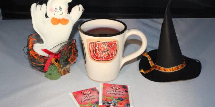 CognaTHE'. tè di Halloween, tisane di Halloween, tisana Mora e Lampone della Pompadour, Pompadour, tè, tisane, infusi