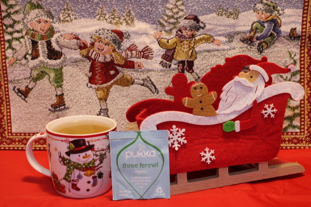Pukka, Tisana tre finocchi, finocchio, tisana al finocchio, Tisana dopo cena, cognaTHE, tisane, infusi, tè di natale, calendario dell'avvento, infusione, christmas tea