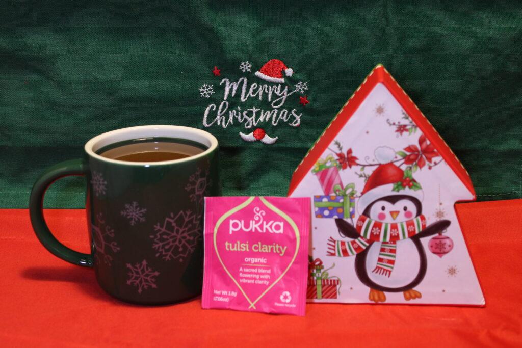 Pukka, Tulsi clarity, Tulsi, Tisana al Tulsi, tisana 3 cannelle, cannella, cognaTHE, tisane, infusi, tè di natale, calendario dell'avvento, infusione, christmas tea