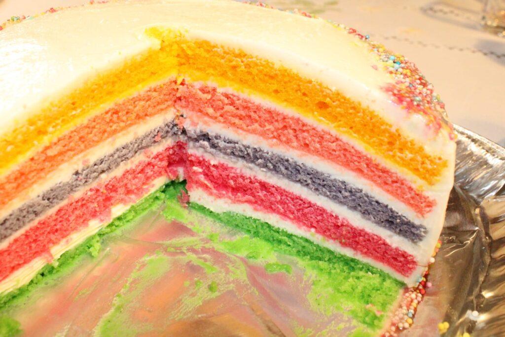 Torta Rainbow e torta a tema bing in pasta di zucchero, CognaTHE', ricette e tè, tisane, tè, tea, Torta Rainbow, torta arcobaleno, torta a tema bing, torta in pasta di zucchero, torta di bing