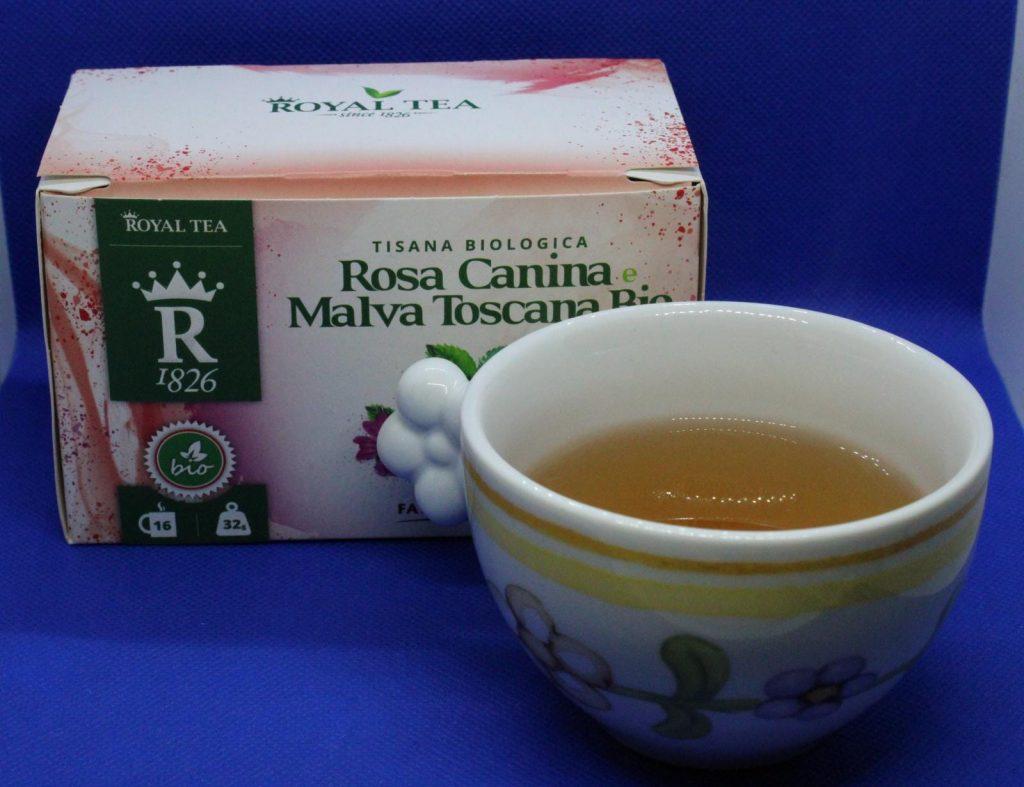 tisana alla malva, royal tea, tisana biologica, tisana toscana, tisana biologica rosa canina e malva toscana della Royal Tea